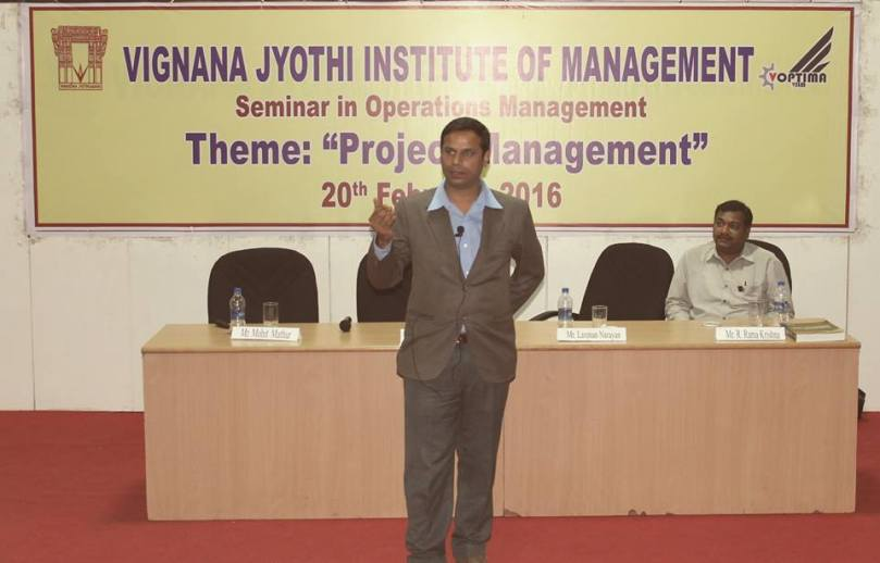 VJIM Hyderabad has organized a Seminar in Project Management on 20th February 2016 4