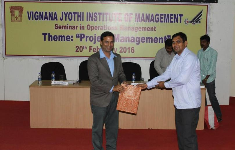 VJIM Hyderabad has organized a Seminar in Project Management on 20th February 2016 7